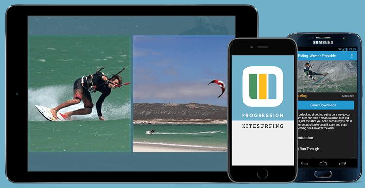 Progression Kitesurfing on the Progression Player App