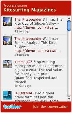 Twitter List widget - Kitesurfing Magazines