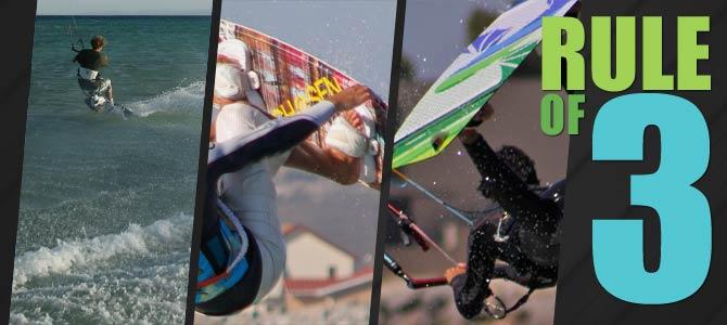 Kitesurfing banner for Rule of 3