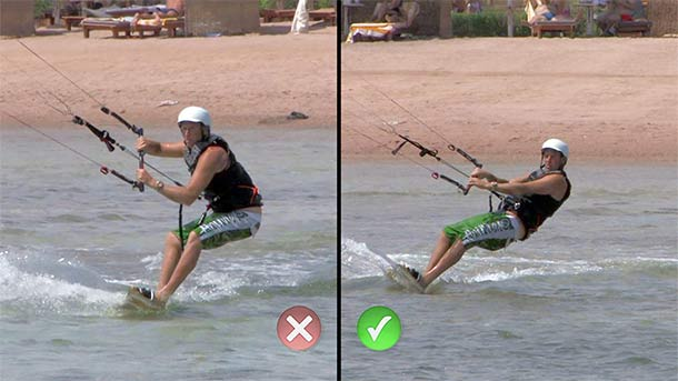 KItesurfing stance - good and bad