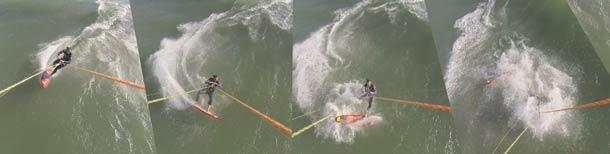 Wave crash sequence