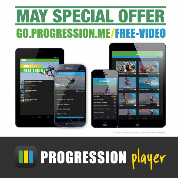May special offer - free kitesurfing video