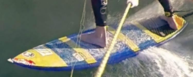 Kite surfboard - back foot back of board