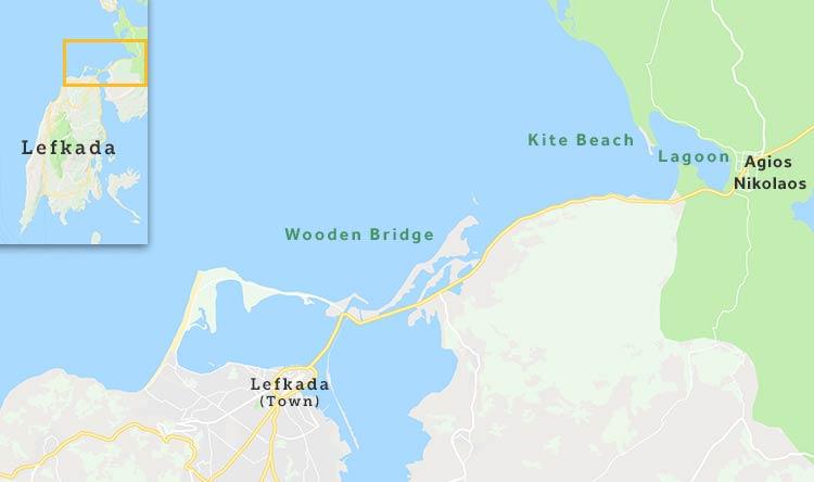 Locations in Lefkada, Greece