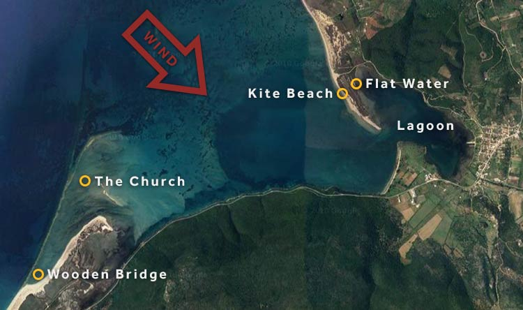 Kitesurfing spots in Lefkada, Greece